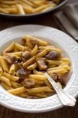 Tasty Pasta with Mushrooms — Stock Photo