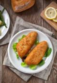 Breaded Fish Fillet — Stock Photo