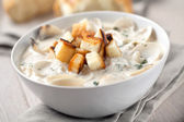 Clam Chowder in bowl — Stock Photo