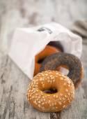 Fresh Mixed Bagels — Stock Photo
