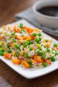 Cantonese Rice on plate — Stock Photo