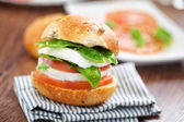 Vegetarian Sandwich with tomatoes — Stock Photo