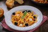 Spaghetti with tomato sauce — Stock Photo