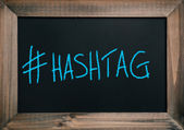 Hashtag text on board — Stock Photo
