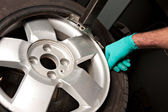 Mechanical repairs tire — Stock Photo