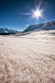 The italian alps in winter — Stock Photo
