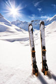 Ski on italian alps — Stock Photo
