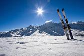 Ski on italian alps — Stock Photo