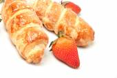 Strawberry and puff pastry rolls — Stock Photo