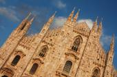 Milan Cathedral with the sky — Stock Photo