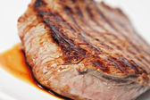 Cooked Beef on plate — Stock Photo