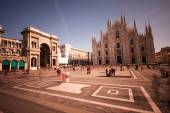Piazza del Duomo of Milan — Stock Photo