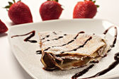 Delicious french crepe — Stock Photo