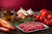 Ingredients for the Bolognese sauce — Stock Photo