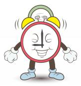 Clock alarm cartoon — ストックベクタ