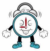 Clock alarm cartoon — Stock Vector