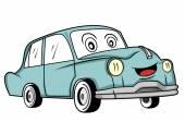 Classic car cartoon — Stock Vector
