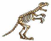 Dinosaur fossil — Stock Vector