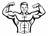 Body builder — Stock Vector