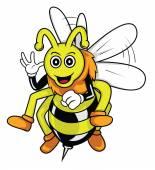 Bee Vector Illustration Design — Stock Vector