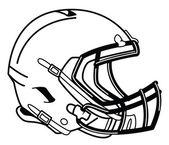 Helmet football — Stock Vector