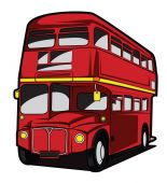 England Bus — Stock Vector