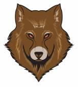 Wolf Vector Illustration — Stock Vector