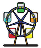 Feris wheel — Stock Vector