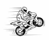 Motocross cartoon — Stock Vector