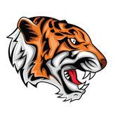 Tiger roar — Stock Vector