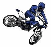 Moto cross rider — Stock Vector