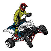 ATV moto rider — Stock Vector