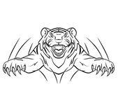 Tiger jump Vector Illustration — Stock Vector