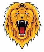 Lion head roar — Stock Vector