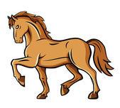 Caballo marrón — Vector de stock