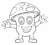 Mushroom Cartoon — Stock Vector