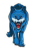 Blue Wolf — Stock Vector