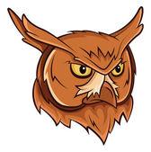 Owl head — Stock Vector
