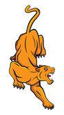 Orange Panther — Vector de stock