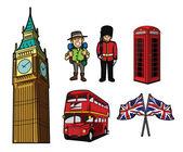 London Tourism Symbol — Stock Vector