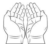 祈祷的手 — 图库矢量图片