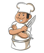 Chef cooking — Stock Vector