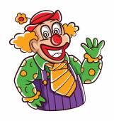 Clown de la bande dessinée — Vecteur