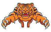 Tiger Attack — Vector de stock
