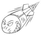 Rocket launch — Stock Vector