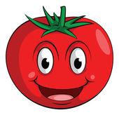 Sorriso tomate — Vetor de Stock