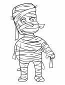 Mummy costume — Stock Vector