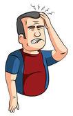 Headaches man — Stock Vector