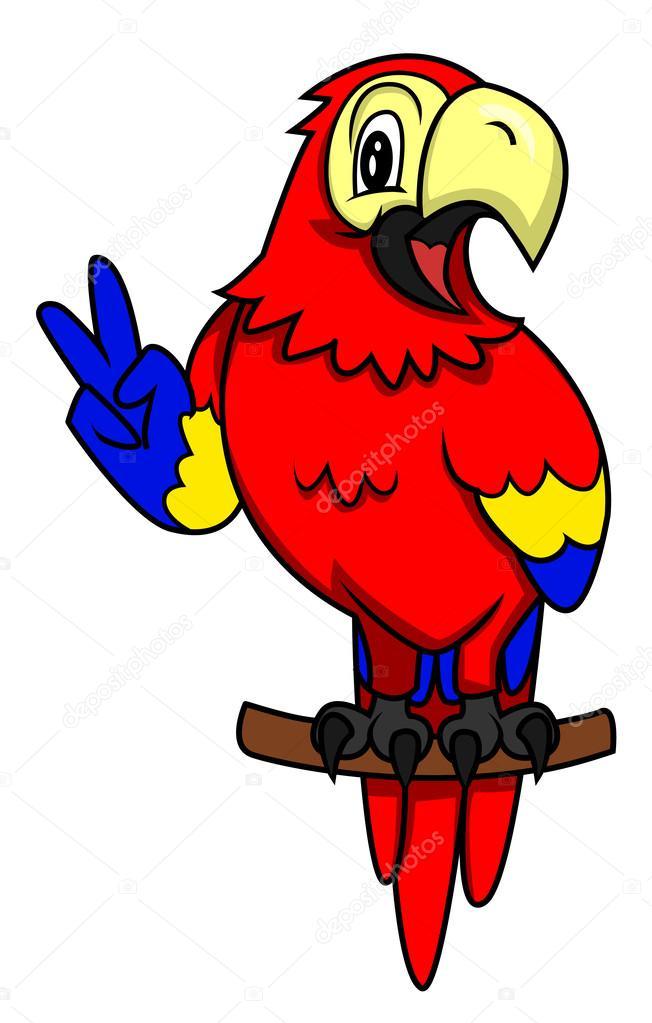 卡通鹦鹉 — 图库矢量图像08