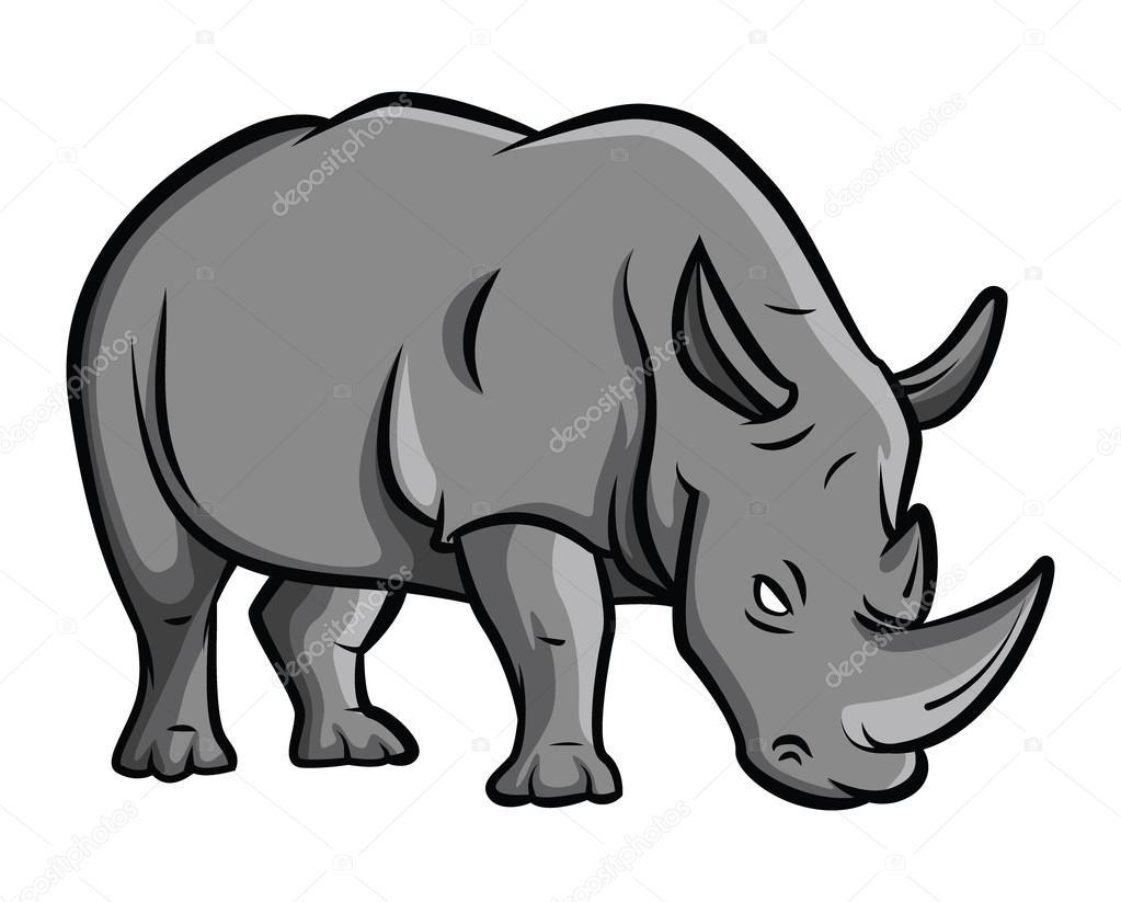 Rhinoc ros de dessin anim image vectorielle 54807611 - Rhinoceros dessin ...